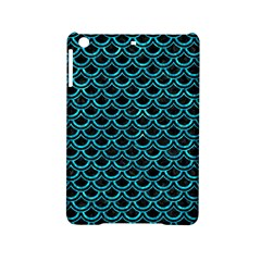 Scales2 Black Marble & Turquoise Marble Apple Ipad Mini 2 Hardshell Case by trendistuff