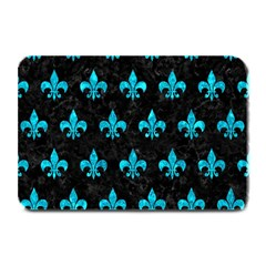 Royal1 Black Marble & Turquoise Marble (r) Plate Mat by trendistuff