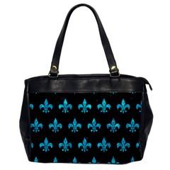 Royal1 Black Marble & Turquoise Marble (r) Oversize Office Handbag by trendistuff