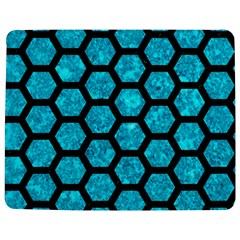 Hexagon2 Black Marble & Turquoise Marble (r) Jigsaw Puzzle Photo Stand (rectangular) by trendistuff