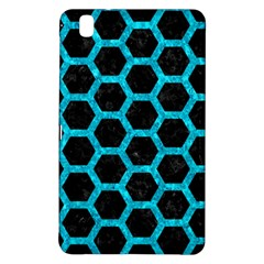 Hexagon2 Black Marble & Turquoise Marble Samsung Galaxy Tab Pro 8 4 Hardshell Case by trendistuff