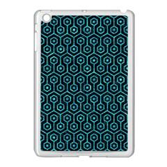 Hexagon1 Black Marble & Turquoise Marble Apple Ipad Mini Case (white) by trendistuff