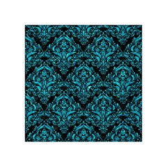 Damask1 Black Marble & Turquoise Marble Acrylic Tangram Puzzle (4  X 4 ) by trendistuff