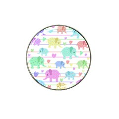 Elephant pastel pattern Hat Clip Ball Marker (10 pack) by Valentinaart