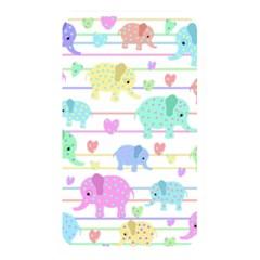 Elephant Pastel Pattern Memory Card Reader by Valentinaart