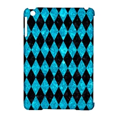 Diamond1 Black Marble & Turquoise Marble Apple Ipad Mini Hardshell Case (compatible With Smart Cover) by trendistuff