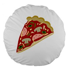 Pizza Slice Large 18  Premium Flano Round Cushions by Valentinaart