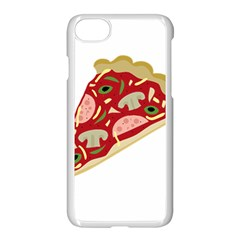 Pizza Slice Apple Iphone 7 Seamless Case (white) by Valentinaart