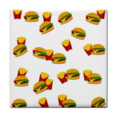 Hamburgers And French Fries  Tile Coasters by Valentinaart