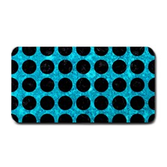 Circles1 Black Marble & Turquoise Marble (r) Medium Bar Mat by trendistuff