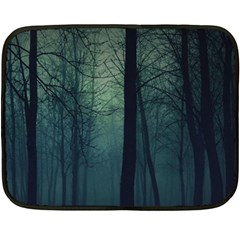 Dark Forest Double Sided Fleece Blanket (mini)  by Brittlevirginclothing