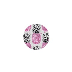 Pink Pineapple 1  Mini Buttons by Brittlevirginclothing