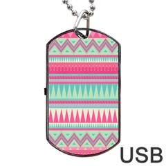 ¨pink Bohemian Dog Tag Usb Flash (two Sides) by Brittlevirginclothing