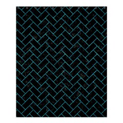 Brick2 Black Marble & Turquoise Marble Shower Curtain 60  X 72  (medium) by trendistuff