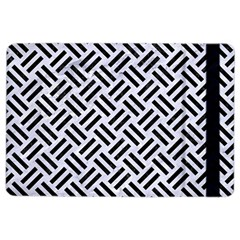 Woven2 Black Marble & White Marble (r) Apple Ipad Air 2 Flip Case by trendistuff
