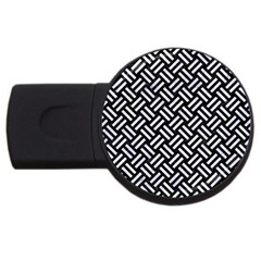 Woven2 Black Marble & White Marble Usb Flash Drive Round (2 Gb) by trendistuff