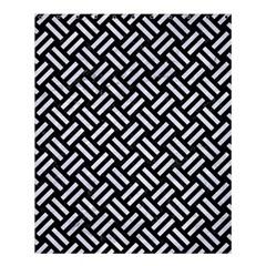 Woven2 Black Marble & White Marble Shower Curtain 60  X 72  (medium) by trendistuff