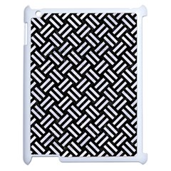 Woven2 Black Marble & White Marble Apple Ipad 2 Case (white) by trendistuff