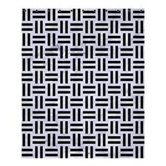 Woven1 Black Marble & White Marble (r) Shower Curtain 60  X 72  (medium) by trendistuff