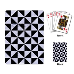 Triangle1 Black Marble & White Marble Playing Cards Single Design by trendistuff