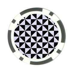 Triangle1 Black Marble & White Marble Poker Chip Card Guard by trendistuff