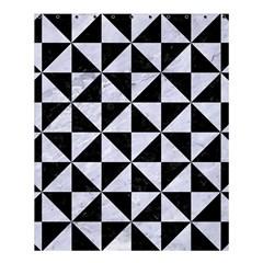 Triangle1 Black Marble & White Marble Shower Curtain 60  X 72  (medium) by trendistuff