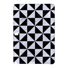 Triangle1 Black Marble & White Marble Samsung Galaxy Tab Pro 12 2 Hardshell Case by trendistuff