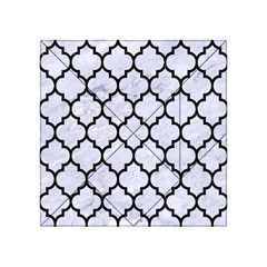 Tile1 Black Marble & White Marble (r) Acrylic Tangram Puzzle (4  X 4 ) by trendistuff