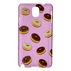 Donuts Pattern   Pink Samsung Galaxy Note 3 N9005 Hardshell Case by Valentinaart
