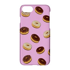 Donuts Pattern   Pink Apple Iphone 7 Hardshell Case by Valentinaart