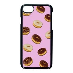 Donuts Pattern   Pink Apple Iphone 7 Seamless Case (black) by Valentinaart