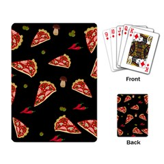 Pizza Slice Patter Playing Card by Valentinaart