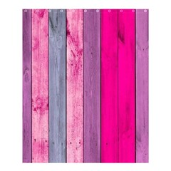 Pink Wood Shower Curtain 60  X 72  (medium)  by Brittlevirginclothing
