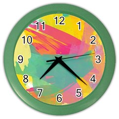 Paint brush Color Wall Clocks by Brittlevirginclothing