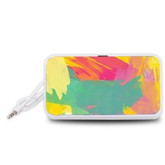 Paint Brush Portable Speaker (white) by Brittlevirginclothing