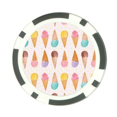 Cute Ice Cream Poker Chip Card Guard (10 Pack) by Brittlevirginclothing