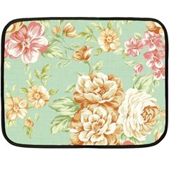 Vintage Pastel Flower Double Sided Fleece Blanket (mini)  by Brittlevirginclothing