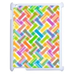 Abstract Pattern Colorful Wallpaper Apple Ipad 2 Case (white) by Amaryn4rt