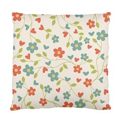 Abstract Vintage Flower Floral Pattern Standard Cushion Case (one Side) by Amaryn4rt
