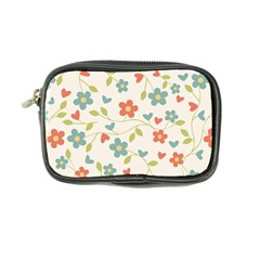 Abstract Vintage Flower Floral Pattern Coin Purse by Amaryn4rt
