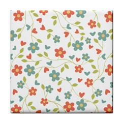 Abstract Vintage Flower Floral Pattern Face Towel by Amaryn4rt