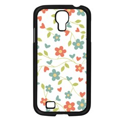 Abstract Vintage Flower Floral Pattern Samsung Galaxy S4 I9500/ I9505 Case (black) by Amaryn4rt