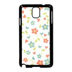 Abstract Vintage Flower Floral Pattern Samsung Galaxy Note 3 Neo Hardshell Case (black) by Amaryn4rt