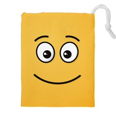 Smiling Face with Open Eyes Drawstring Pouches (XXL) by sifis