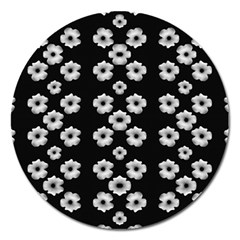 Dark Floral Magnet 5  (round) by dflcprints