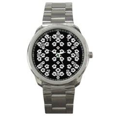 Dark Floral Sport Metal Watch by dflcprints