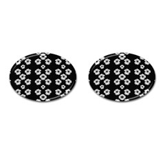 Dark Floral Cufflinks (oval) by dflcprints