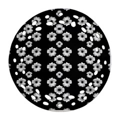 Dark Floral Ornament (round Filigree) by dflcprints