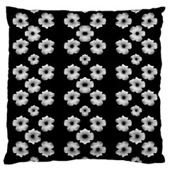 Dark Floral Large Cushion Case (one Side) by dflcprints