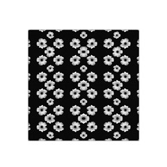 Dark Floral Satin Bandana Scarf by dflcprints